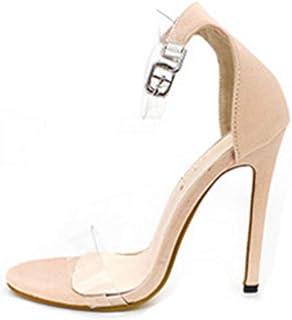 d03760538c7b26 YOGLY Femme Escarpins Transparent Sexy Sandales à Talons Hauts Escarpins  Été Sexy High Heels Élégant Chaussure