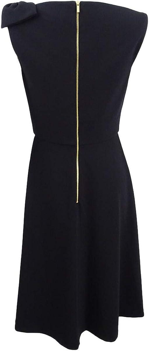 DKNY Women's Draped Bow Fit & Flare Dress
