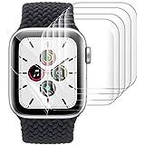 Xingmeng [6枚入り] Apple Watch Series 6/SE/5/4 44mm フィルム 用 アップルウォッチ Series 3/2 42mm 保護フィルム 指紋防止 気泡防止 キズ修復 3D全面保護 ラウンドエッジ加工 99%高透過率