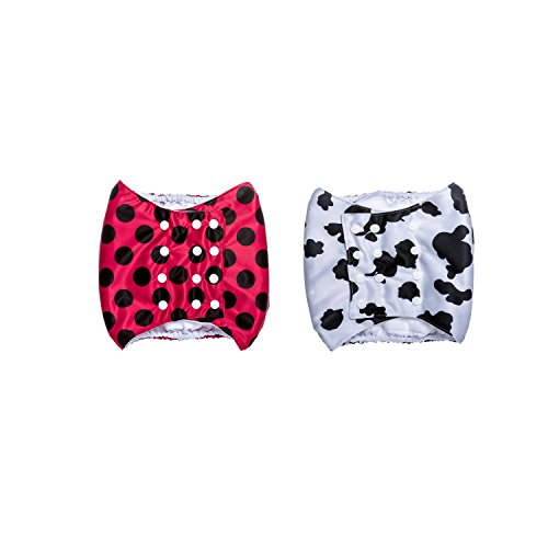 Brooke's Best Belly Bands (XS, Red Dots/Cow Print) for Pugs