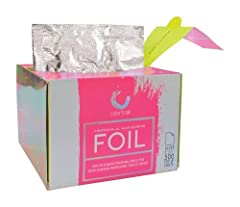 ECONOMICAL POPUP DISPENSER BOX: 5 x 10.75 inch silver foil sheets are pre-cut ready to use. The popup foil by Colortrak provides hair coloring foils at a great price, with boxes each containing 500 pre-cut foil sheets. CONVENIENT POPUP DISPENSER BOX:...