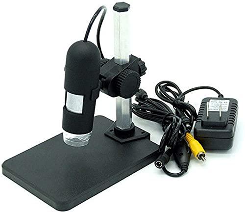 Chemistry Set Microscope, 3200x2400 AV Microscope, 400X Electron Microscope for Kids 8-12 (Color : Black)