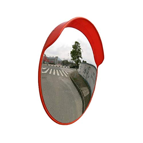 XHZESC Espejo de Punto Ciego para Garaje Interior, Espejo Convexo de Gran Angular de 80 cm Espejo Solar a Prueba de Lluvia Espejo de tráfico Lente Gran Angular de plástico Duradero (tamaño: 80 cm)