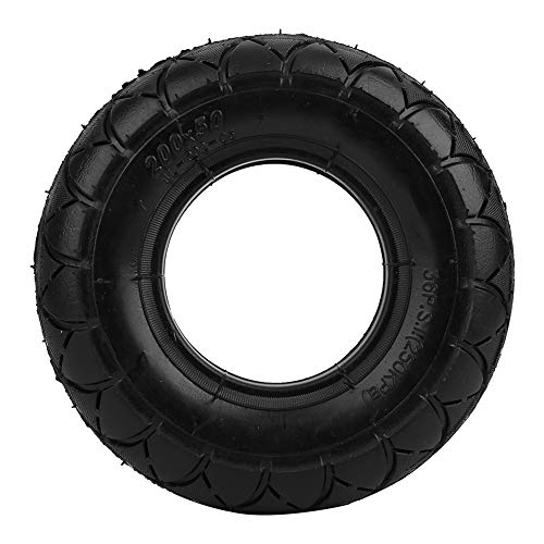 Tbest Neumático de Scooter eléctrico, neumático de Cubierta neumática de plástico de 8 Pulgadas, Accesorio de Carcasa de neumático Inflable para Scooter KUGOO de 8 Pulgadas