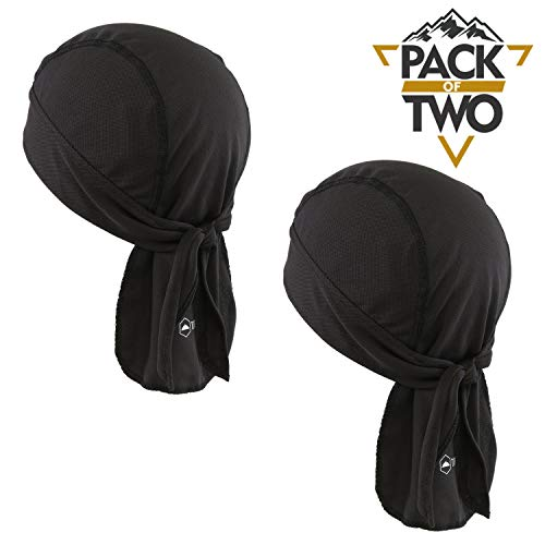 bandana noir homme femme avec aeration polyester durag du rag
