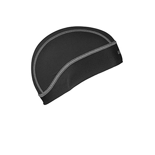 GripGrab UPF 50+ Leichte Sommer Fahrrad Unterhelm Mütze UV Schutz Radmütze Sonnenschutz Schweißschutz Unterziehmütze Fliegenschutz Kappe Unterhelmmütze, Schwarz, Onesize