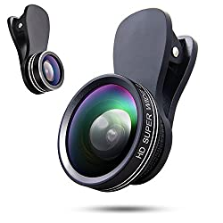 Phone Camera Lens 3 In 1 Kit, Fisheyes Lens 180 Degree