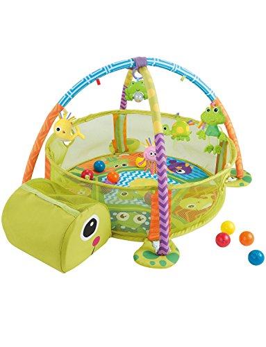 Konig Kids 3 en 1 Bebé Gimnasio de actividad y Piscina de bolas Tapete de juego, Tortuga
