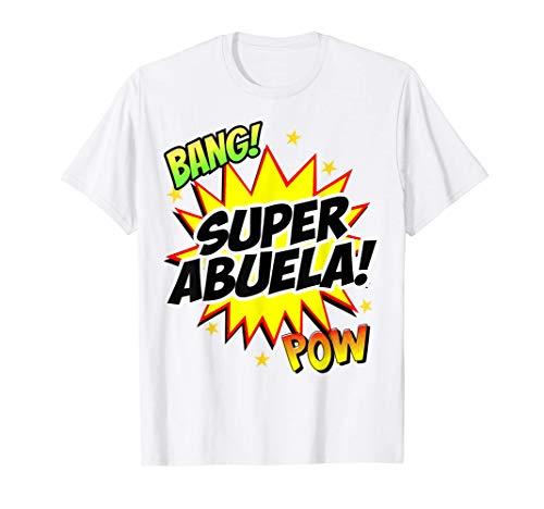 Super Abuela Familia Divertida Abuelita Regalo para Mujeres Camiseta