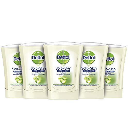 Dettol Handzeep No Touch Navulling – Aloe Vera – 5 x 250ml – Grootverpakking