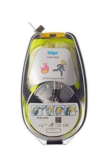 Dräger 5530 Parat Brand-Fluchthaube im robusten Hard Case | Effektive Rettungshaube zum Schutz vor Brandgasen, Kohlenmonoxid (CO) - 2