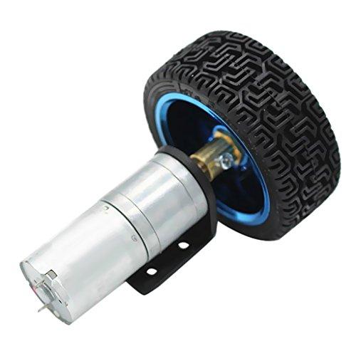 65mm Getriebemotor Langsamläufer Elektromotor Drehteller Spiegelkugelmotor für Roboter, Smart Car, Messgeräte und elektrische Spielzeug - 6V 77RPM