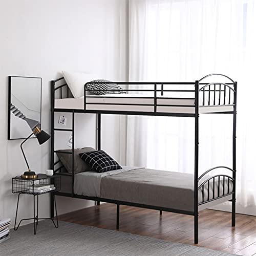 HUJUNG Marco de cama de hierro de 91 cm, cabezal de columna redondo de doble capa y cola curvada, decoración de tubo vertical, adecuado para adultos, niños, adolescentes, negro