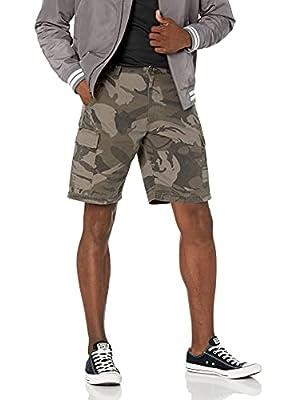 Wrangler Authentics Men's Classic Relaxed Fit Cargo Short, Dark Khaki camo Ripstop, 48 from Wrangler Authentics