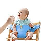 Lychee Faltbar Tragbar Esszimmerstuhl Sicherheitsgurt Schutzgurt Anschnallgurt für Baby und Kleinkind (Blau)