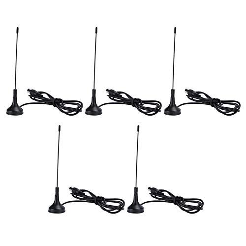 FOLOSAFENAR Antena Digital DVB-T VHF UHF TV Antenna (5Pcs / Set) 5dBi Quality Fácil de Instalar, para TV HDTV