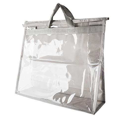 LKSDJ Bolsa transparente a prueba de polvo, almacenamiento de bolsos, con cremallera y asa transparente. L