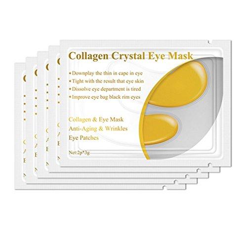 1 par de colágeno, proteína, máscara para los Ojos, Parches para los Ojos, eliminación de ojeras, Cuidado de los Ojos, Oro