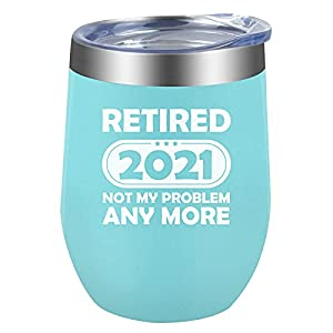 Great option for a retired gift:This cup will be a memorable retirement gift for her/him.The perfect retirement gift for your best friends,family,coworker,sister. Funny 2021 retirement gift:Printed with funny saying on the cup,your friends will be fe...