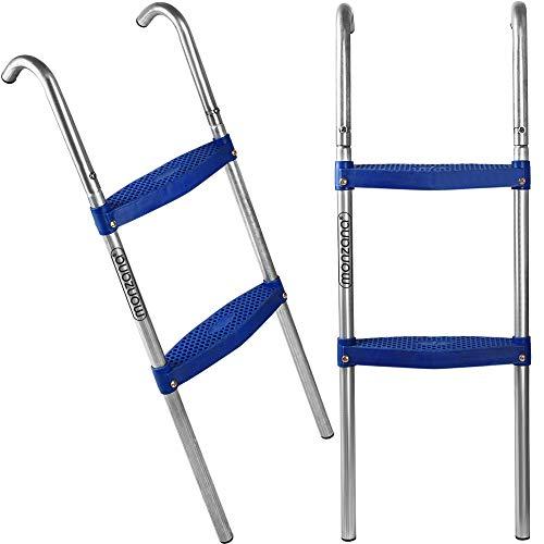 Deuba Trampolinleiter Leiter Einstiegsleiter Gartentrampolin 110 cm 3 Stufen für 366 cm Trampolin mit Höhe 90 cm