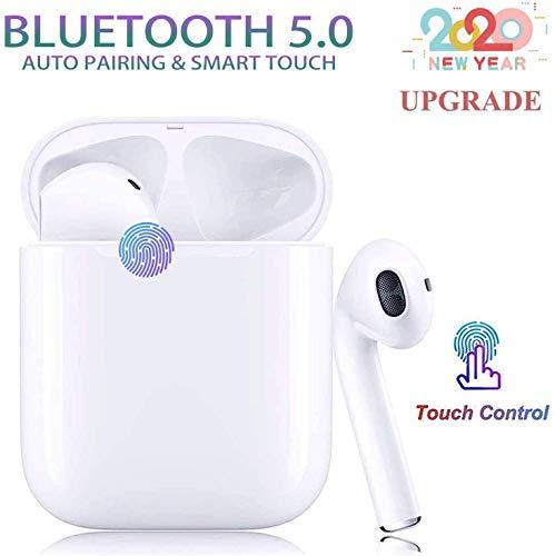Bluetooth Kopfhörer 5.0, Touch Funk In-Ear-Ohrhörer, Sport-3D-Stereo-Kopfhörer, wasserdichtem IPX5,mit Portable Mini Ladekästchen und Integriertem Mikrofon für Apple Airpods Android iPhone
