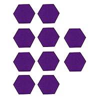 EXCEART 10本フェルトメモボードタイル六角形メッセージボードミニ壁掲示板壁用ホームスクール寮オフィスデコレーション(紫)