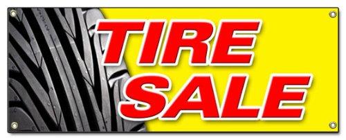 TIRE Sale 1 Banner Sign Tires Sale Sell Wheels Wheel Rim Rims Rubber Tread rain Slick wear Signs