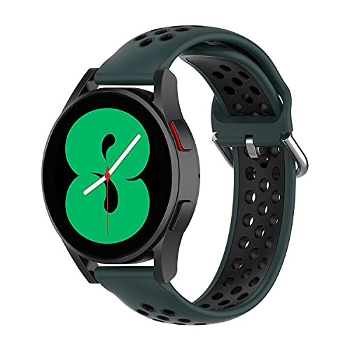 BoLuo 20mm Correa para Galaxy Watch 4 40MM,Correas Reloj,Bandas Correa Repuesto,Silicona Reloj Brazalete Correa Repuesto para Galaxy Watch 4 Classic 42MM/Forerunner 158/Forerunner 55 (negro)