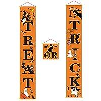 Tumao ハロウィン 飾り バナー装飾 ハロウィンガーランド かぼちゃ 飾り付けセット 屋外 室内 玄関ドア 窓 部屋 デコレーション パーテイー 豪華 仮装 学園祭 文化祭 飾り 道具 背景布