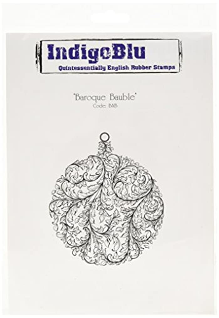 IndigoBlu Cling Mounted Stamp, 7 by 4.75-Inch, Baroque Bauble