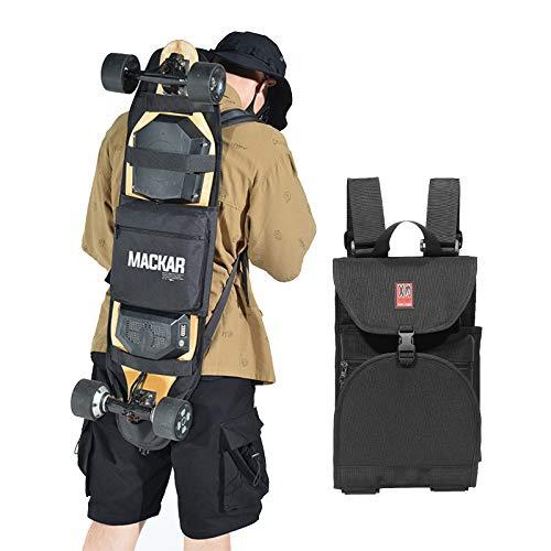 inktells 2021 Electric Skateboard Backpacks Bag with Two Adjustable Shoulder Straps,Foldable Skateboard Backpacks for Men and Boys,Universal Street Trend Skate Carry Bags for Travel