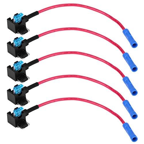 X AUTOHAUX Plastique Tube Fusible 15A Dor/é Plaqu/é AGU Fusibles pour Voiture Auto 5Pcs