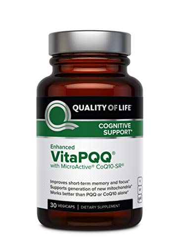 Premium PQQ Supplement with CoQ10 – Quality of Life Enhanced VitaPQQ - Anti Aging, Memory, Energy and Focus, Cognitive and Heart Health - 30 Vegicaps