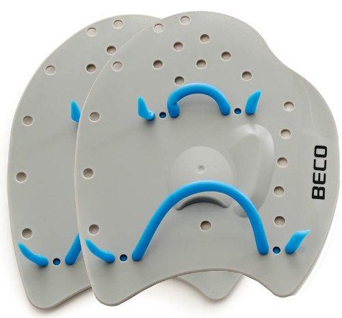 BECO Power Handpaddles Aqua Fitness Wasser Sport Schwimmen Training L hellgrau