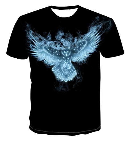 Camiseta pájaro Estampada Divertidas Manga Corta T Shirt