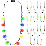 Glowmaker Light Up LED Christmas Holiday Mini Bulb Necklace (Pack of 12)