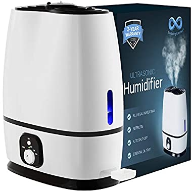 Everlasting Comfort Humidifiers for Bedroom (6L) - Humidifier with Essential Oil Tray (White)
