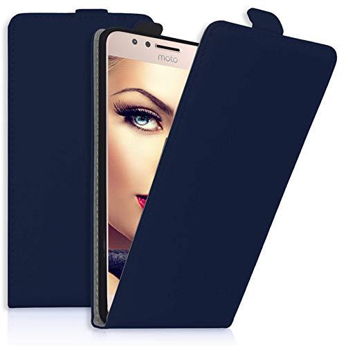 mtb more energy® Flip-Hülle Tasche für Motorola Moto G5S Plus (XT1803, XT1805 / 5.5'') - Blau - Kunstleder - Schutz-Tasche Cover Hülle