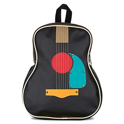 JOE COOL - Guitarra de piel sintética, color negro