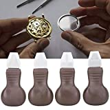 ZJchao - Juego de 4 Piezas de abridor de Relojes de Metal y plástico para Quitar la Caja del Reloj, Kit de Herramientas de reparación de Relojes de Color marrón para reparación de Relojes de Pulsera