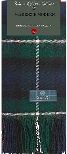 I Luv Ltd MacKenzie Modern Tartan Clan Scarf 100% Soft Lambswool