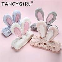 LIFE新ファッションフランネルソフト弓ウサギの耳カチューシャ女性女の子ターバンかわいいホルダーヘアバンド帽子ヘアアクセサリーヘッドバンド 汗止め