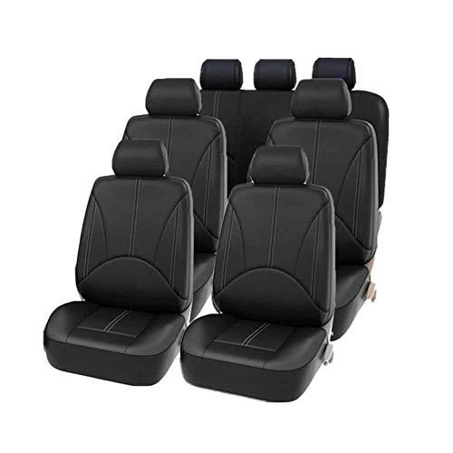 OSISTER7 Funda de asiento de coche, protector de cojín de 8 plazas, universal, impermeable, de piel