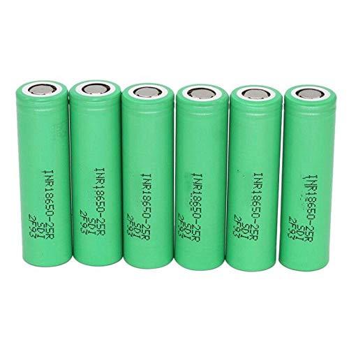 N/D 3.6v 2500mah Batterie, Inr18650 25r 20a 100 % Original für Entladung Lithium Batterien Taschenlampe Urlaub Geschenk 18*65mm/0.7*2.6in 6pcs