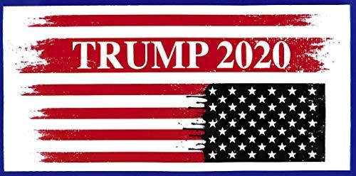 Wholesale Lot of 6 Trump 2020 Upside Down USA Flag Decal Bumper Sticker