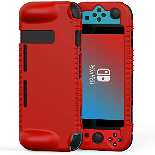 Semeving - Funda protectora de silicona suave compatible con Nintendo Switch, absorción de golpes y antiarañazos (rojo)