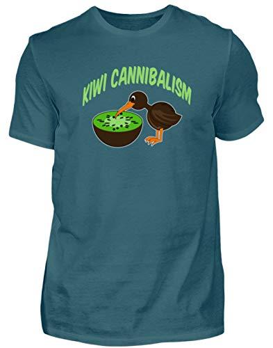 Kiwi Cannibalism - kiwivruchten en kiwivogel - heren shirt