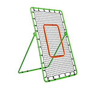 Flair Sports Pitchback Rebound Net – Professional Heavy Duty Series - Baseball Softball Lacrosse – Practice Pitching Catching and Throwing - Pitch Back Trainer - Adjustable Angle Rebounder Net
