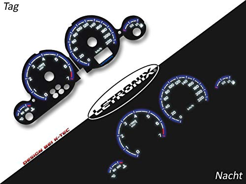 LETRONIX Plasma Tacho Tachoscheiben für Auto Astra G Zafira A 0-220Km/h 7000U/Min