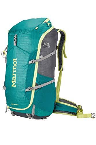 Marmot Damen Wanderrucksack Mit Innengestell, Trekkingrucksack, Reiserucksack, 36 L Fassungsvermögen Graviton 36 Backpack, Gem Green/Cinder, One Size, 24160